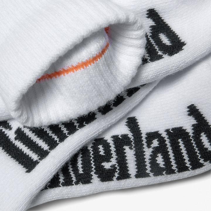 3paires de chaussettes Stratham à bord côtelé pour homme en blanc-