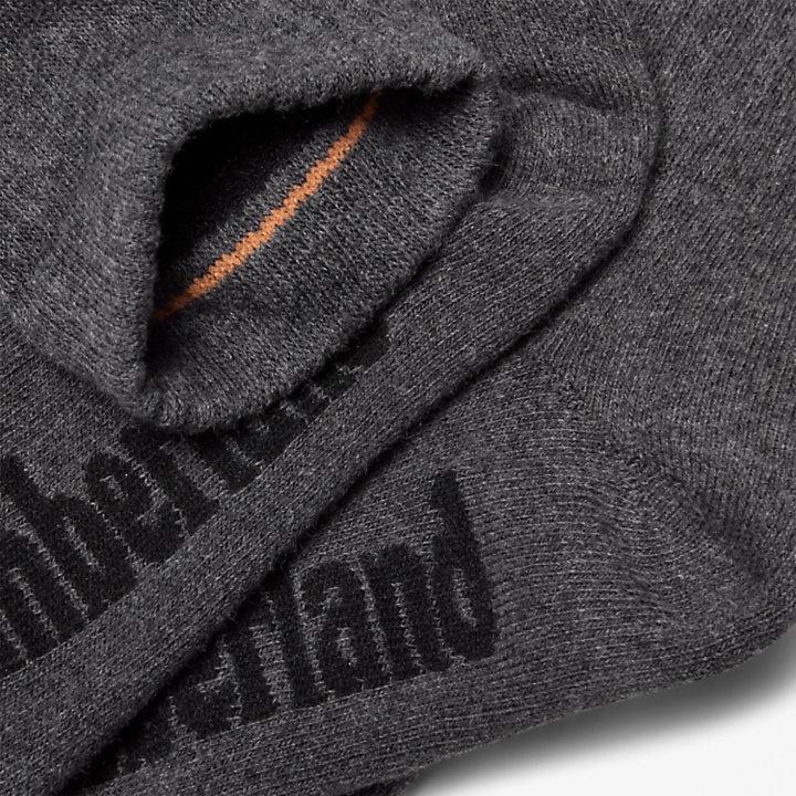 Three Pair Stratham Crew Socks for Men in Dark Grey-