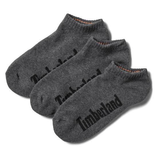 Stratham 3-pack No-show Sport Socks for Men in Grey | Timberland