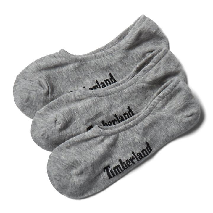Drie paar Stratham Sneakersokken voor heren in grijs-