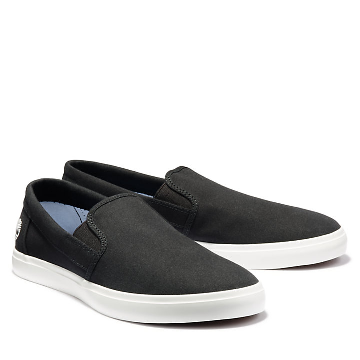 Union Wharf Slip On Trainer for Men in Black-