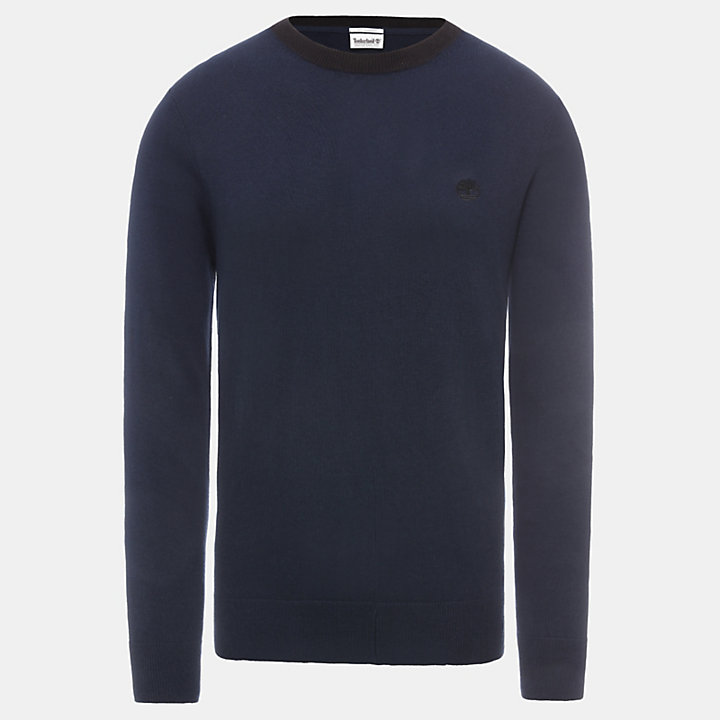 Knox River Merino Sweater voor Heren in marineblauw-