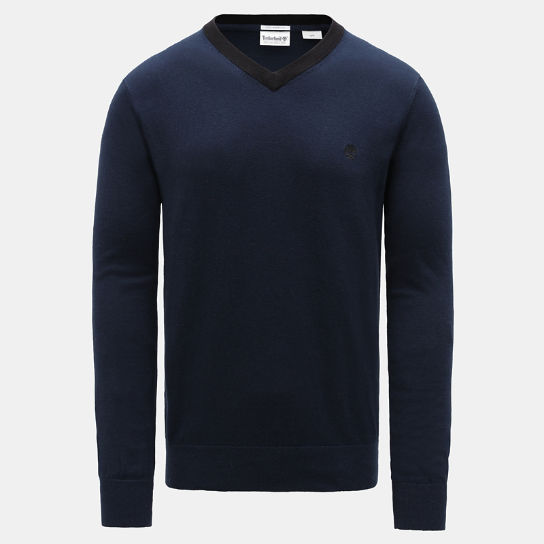 Knox River V Neck Sweater for Men in Navy | Timberland