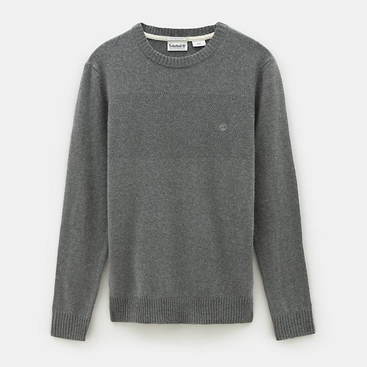 Melvin River Cashmere Blend Sweater for Men in Grey-