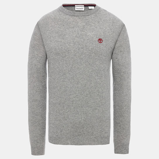 Phillips Brook Lambswool Blend Sweater for Men in Grey | Timberland