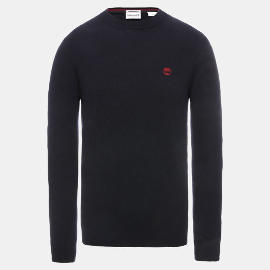 Phillips Brook Lambswool Blend Sweater for Men in Navy | Timberland