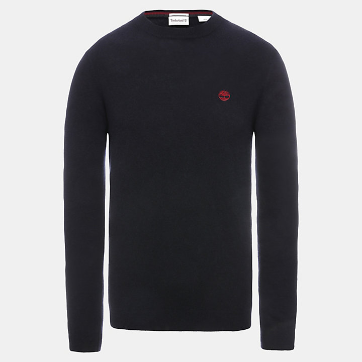 Phillips Brook Lambswool Blend Sweater for Men in Navy-