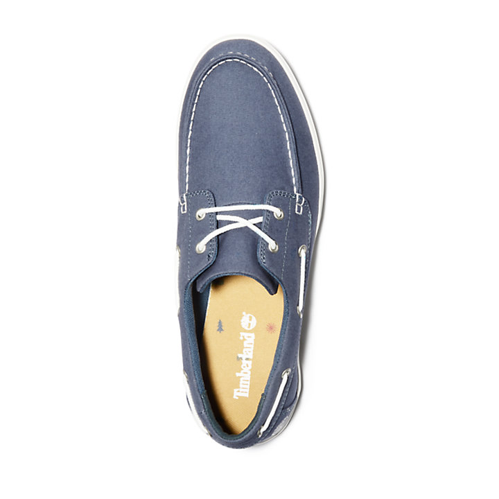 Union Wharf Boat Shoe for Men in Dark Blue-