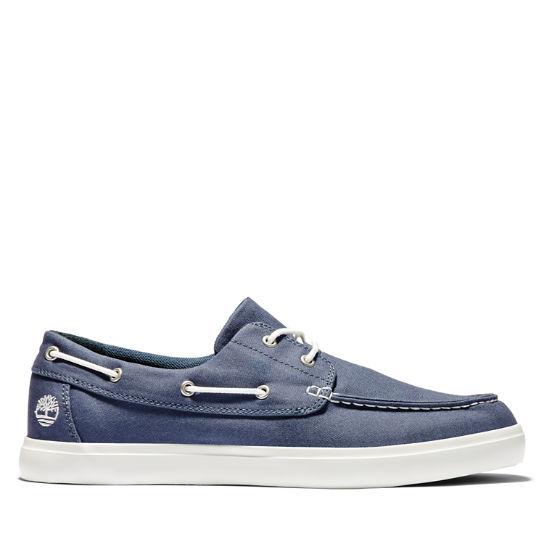 Union Wharf Boat Shoe for Men in Dark Blue