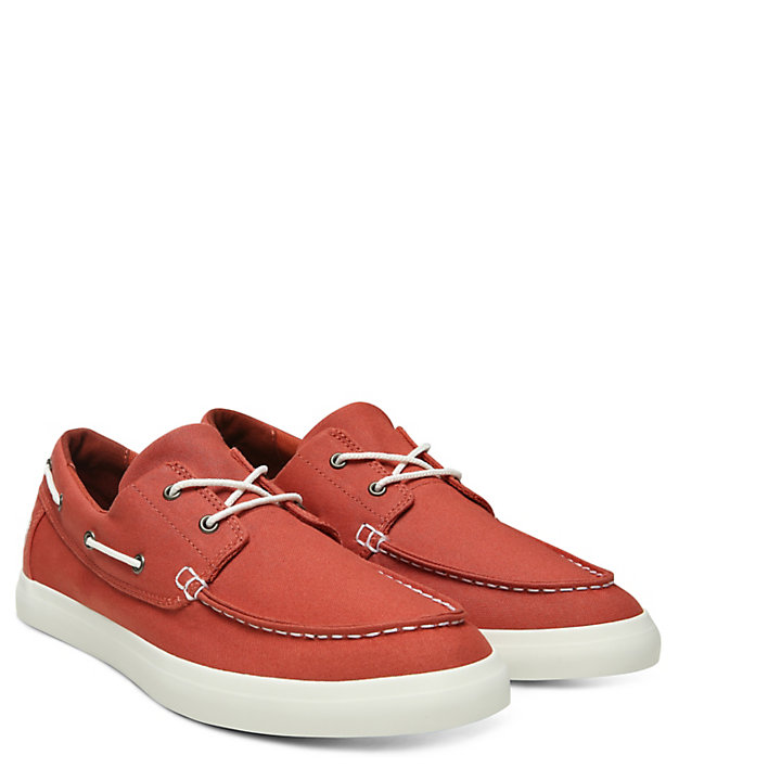 Union Wharf Boat Shoe for Men in Red-