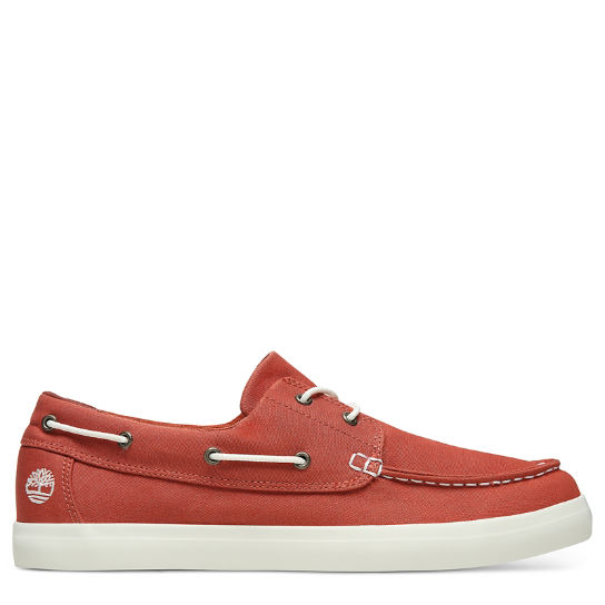 Union Wharf Boat Shoe for Men in Red | Timberland