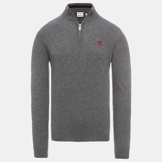Phillips Brook Half Zip Sweater for Men in Grey | Timberland