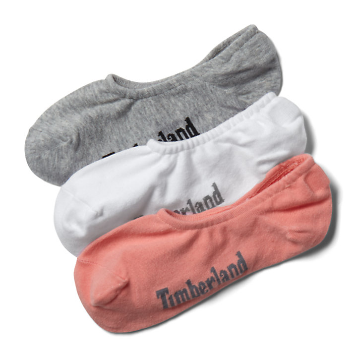 Three Pair Stratham Sock Liners for Women in Peach-