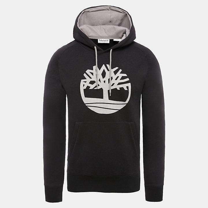Felpa da Uomo con Cappuccio e Logo Oyster River in colore nero-
