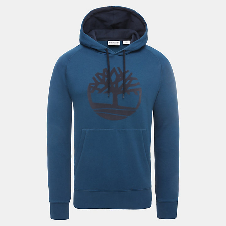 Oyster River Logo Hoodie for Men in Teal-