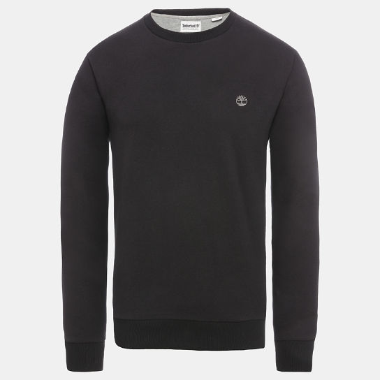 Oyster River Logo Sweatshirt for Men in Black | Timberland