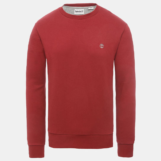 Oyster River Logo Sweatshirt for Men in Red | Timberland