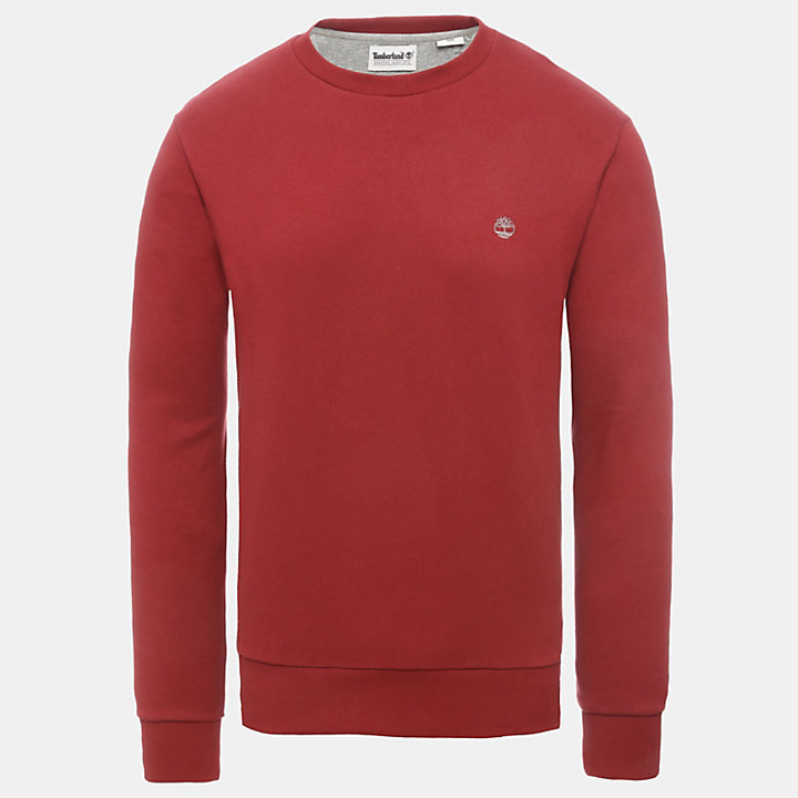 Oyster River Logo Sweatshirt for Men in Red-