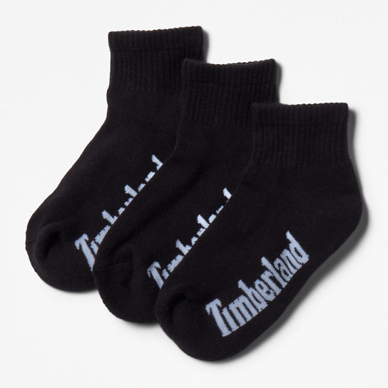 Stratham 3-pack Ankle Socks for Women in Black | Timberland