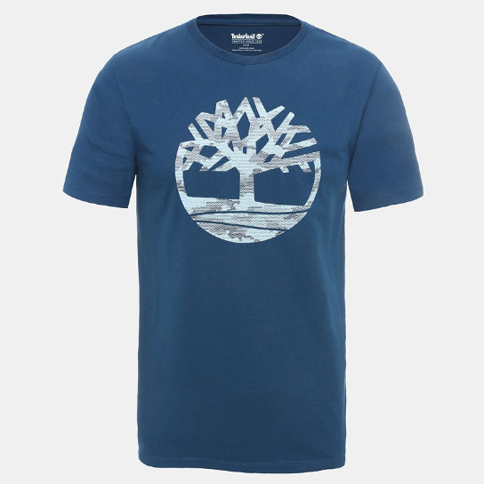 Camo Tree T-Shirt for Men in Teal | Timberland