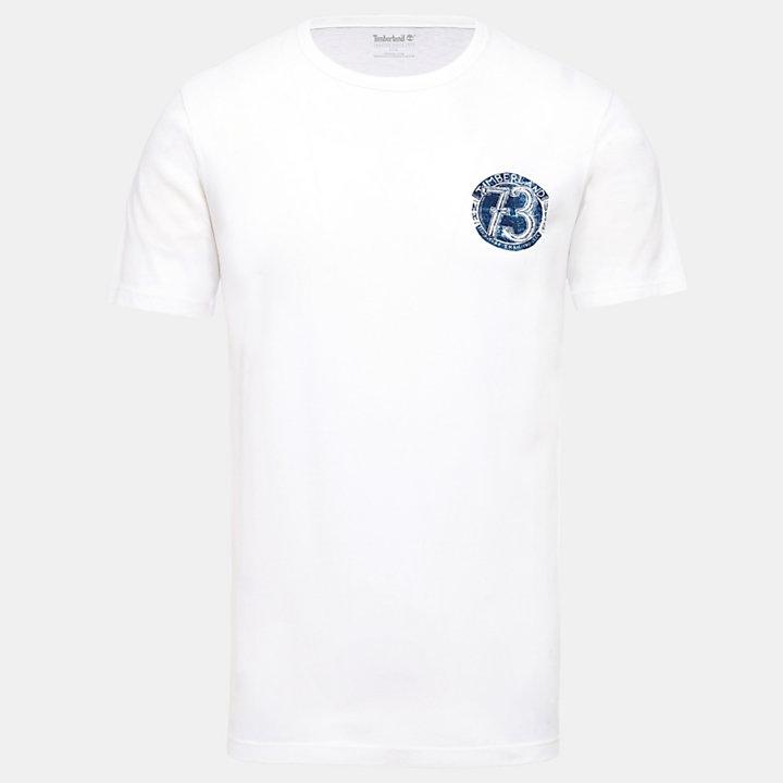 T-Shirt mit Grafik-Print auf der Rückseite für Herren in Weiß-