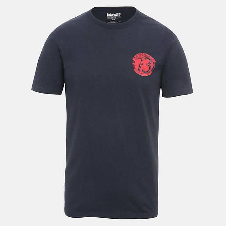 T-shirt Back Graphic pour homme en bleu marine-