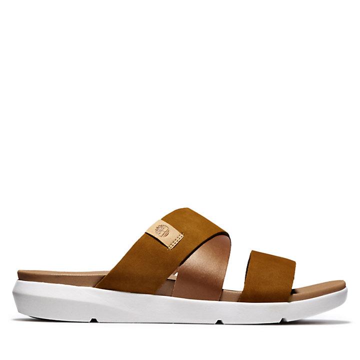 Wilesport Slide Sandal for Women in Brown-