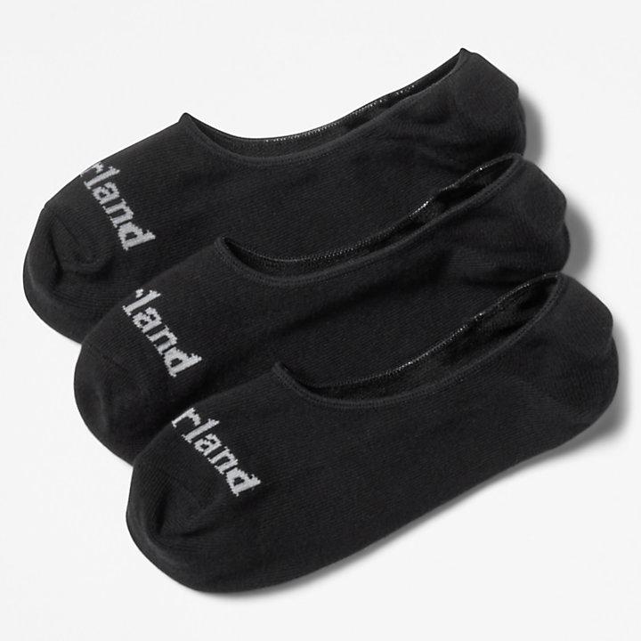 Lot de 3paires de chaussettes invisibles Stratham pour homme en noir-