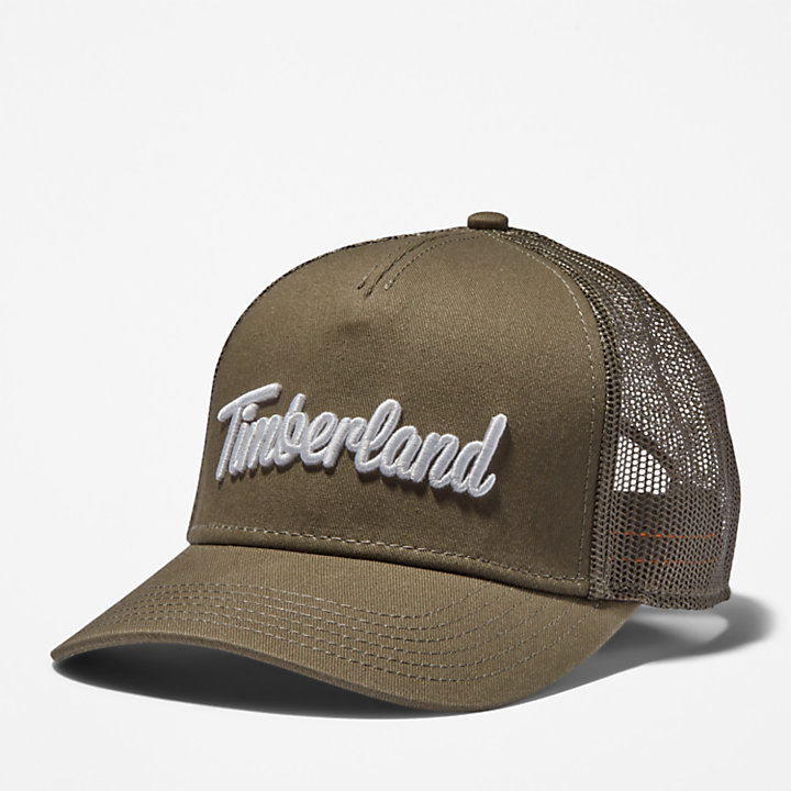 Gorra con Logotipo en 3D para Hombre en verde oscuro-
