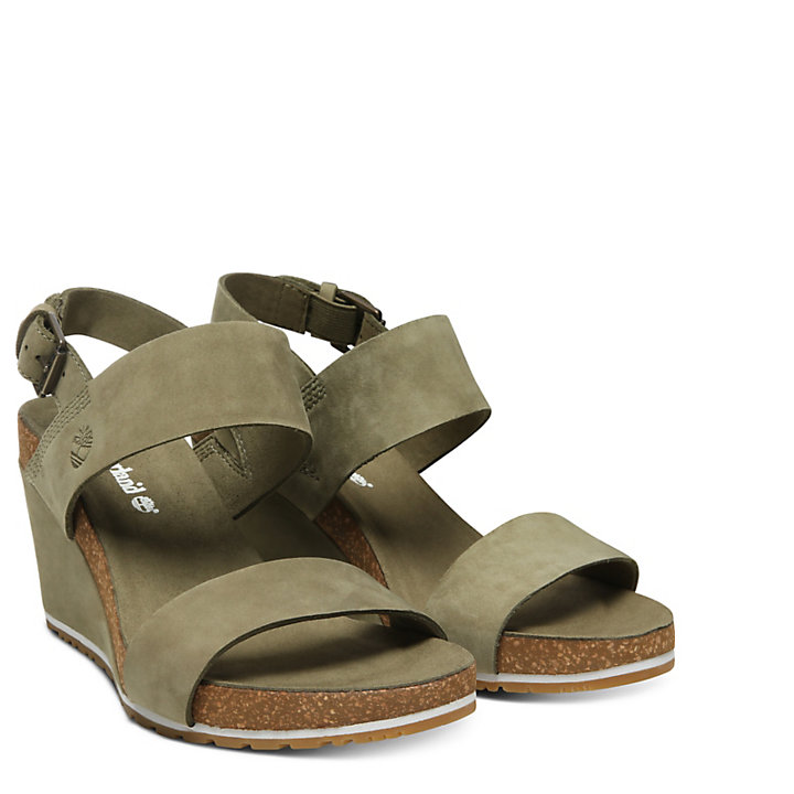 Capri Sunset Wedge Sandal for Women in Green-