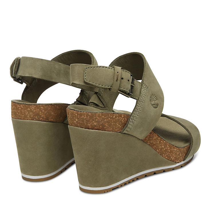 Sandalo con Zeppa da Donna Capri Sunset Verde-