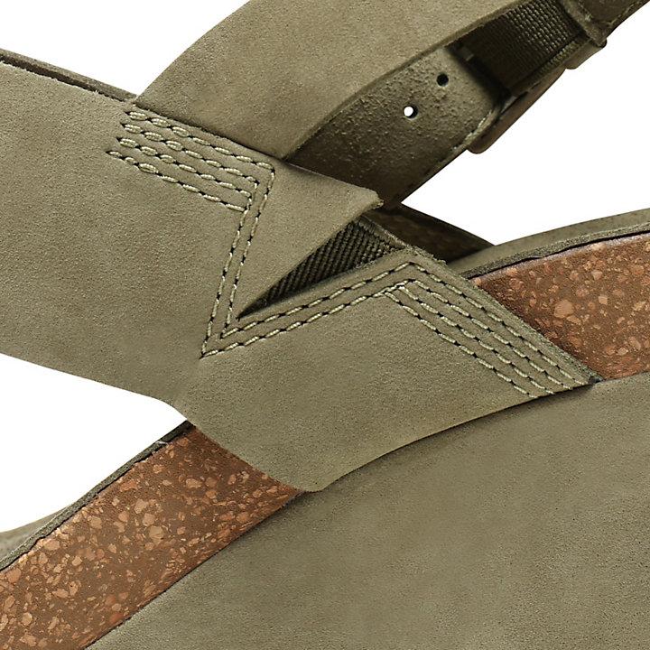 Capri Sunset Sandalette mit Keilabsatz für Damen in Grün-
