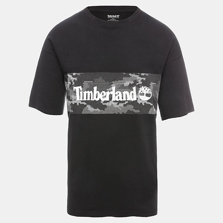 T-shirt Graphic pour homme en noir-