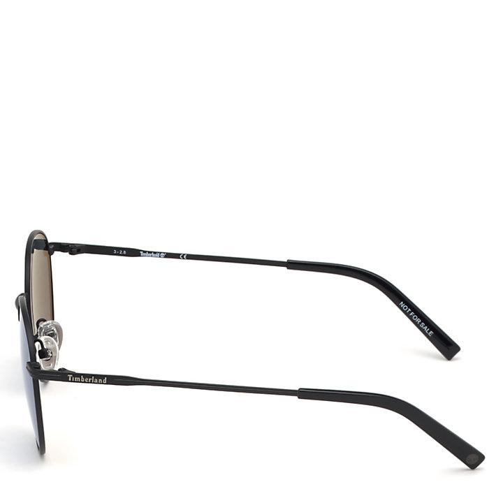 gafas de sol redondas para hombre en color negro-