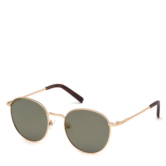 Round Sunglasses for Men in Gold | Timberland