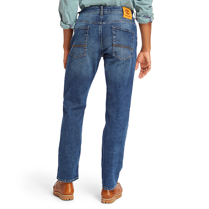 Squam Lake Stretch Jeans for Men in Blue-