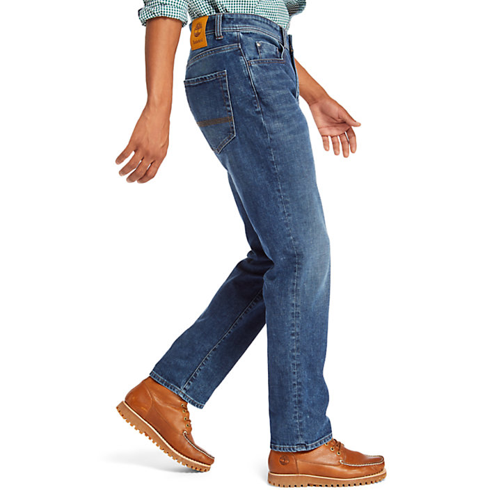 Squam Lake Stretch Jeans voor Heren in blauw-