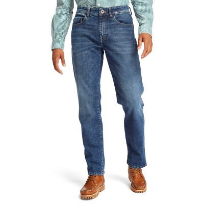 Squam+Lake+Stretch+Jeans+for+Men+in+Blue