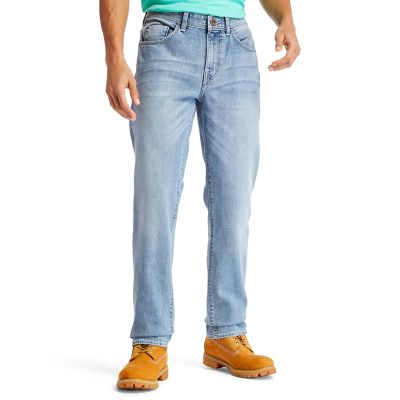 Squam+Lake+Stretch+Jeans+for+Men+in+Light+Blue