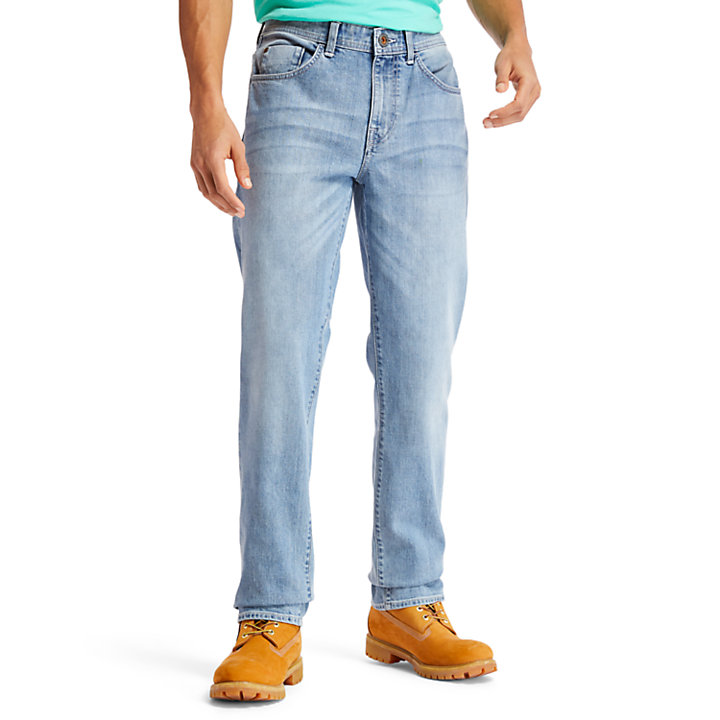 Squam Lake Stretch Jeans for Men in Light Blue-