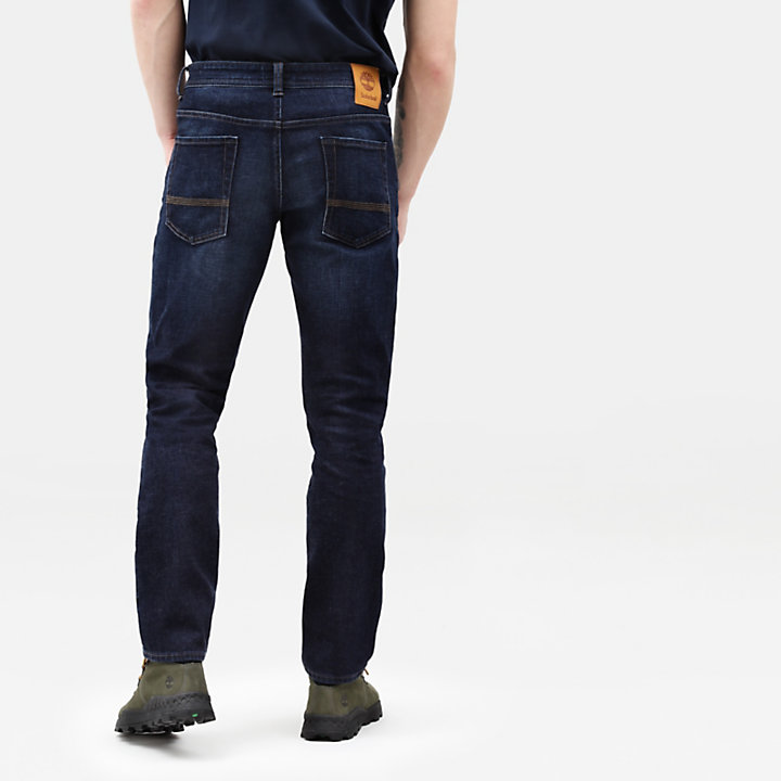 Squam Lake Stretch Jeans for Men in Dark Blue-