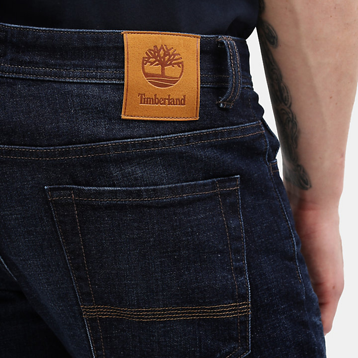 Squam Lake Stretch Jeans voor Heren in donkerblauw-
