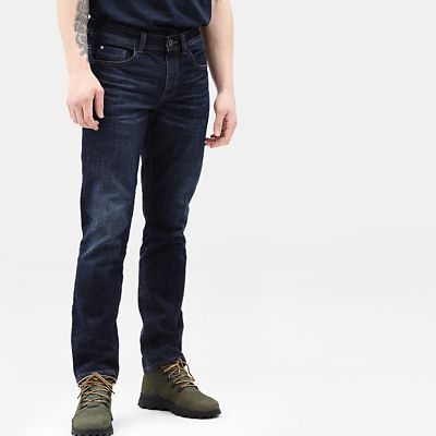 Squam+Lake+Stretch+Jeans+for+Men+in+Dark+Blue