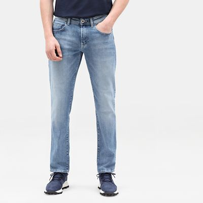 Squam Lake Stretch Jeans For Men In Light Blue Timberland