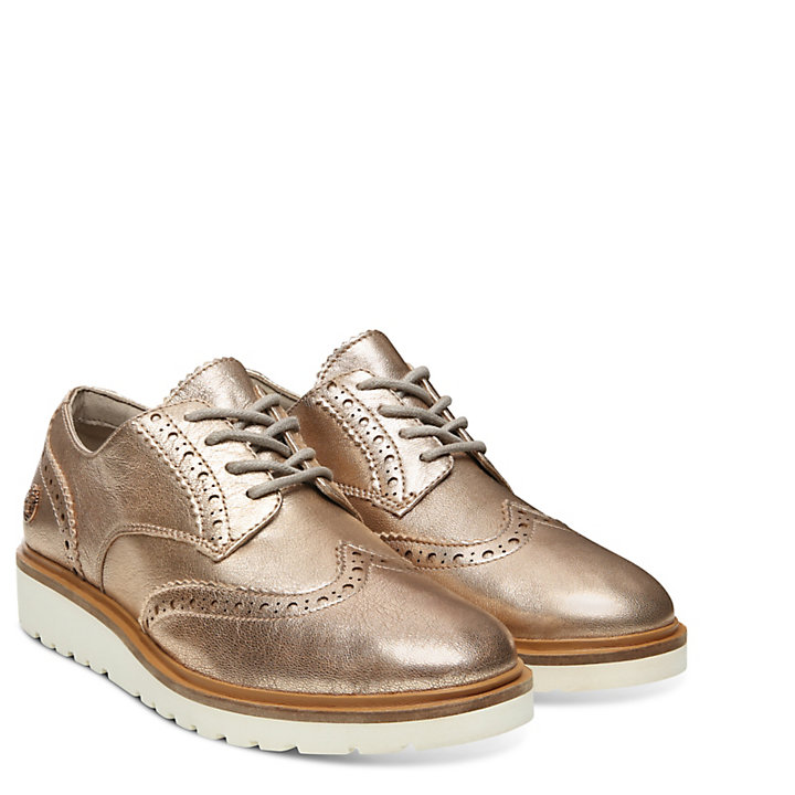 Oxford Brogue da Donna Ellis Street Oro Rosa-