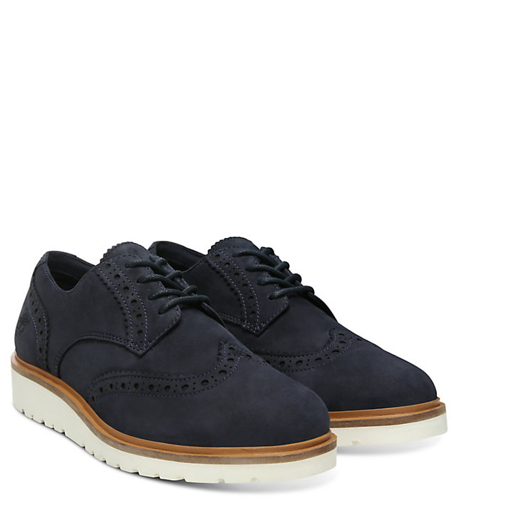 Oxford Brogue da Donna Ellis Street Blu Marino-