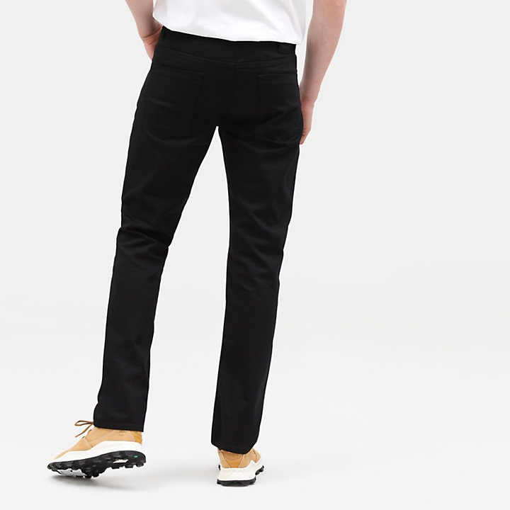 Squam Lake Cotton Stretch Jeans voor Heren in zwart-