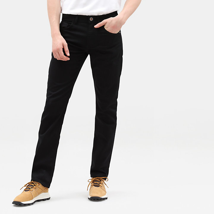 Squam Lake Cotton Stretch Jeans for Men in Black-