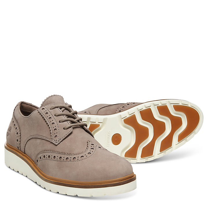 Ellis Street Brogue Oxford voor Dames in Taupe-