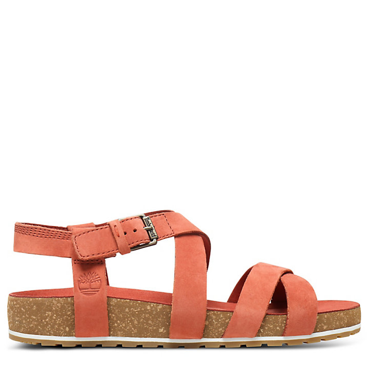Malibu Waves Strap Sandal for Women in Red-